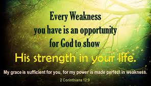 His Strength in your life